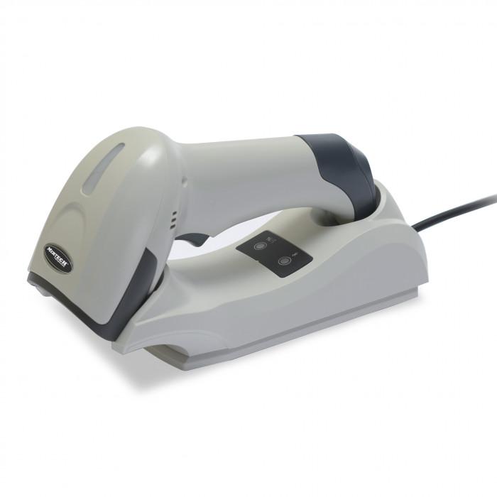 Беспроводной сканер штрих-кода Mertech CL-2310 BLE Dongle P2D USB White с подставкой Cradle в Казани